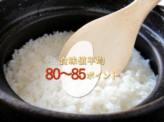 食味値平均83~85ポイント